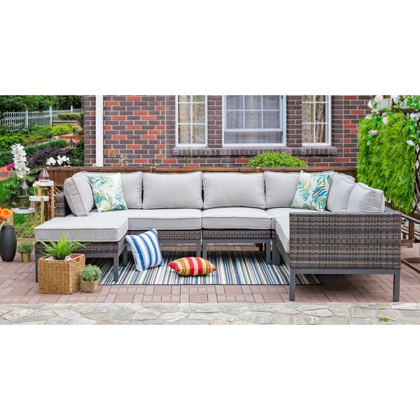 Anderson Outdoor 5 Piece Wicker Sectional Seating Group with Cushions by Brayden Studio