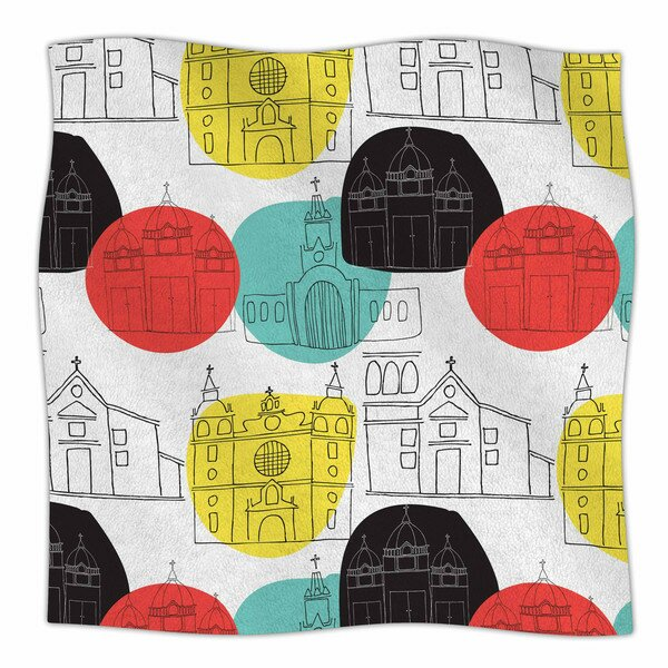 Cartagena Churches by MaJoBV Fleece Blanket by East Urban Home