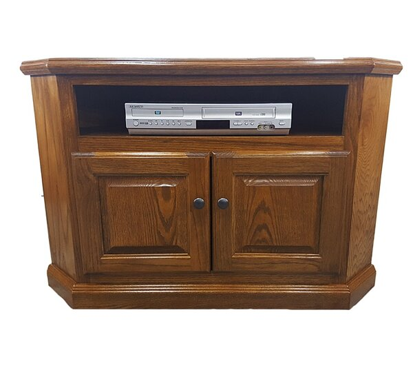 Cloquet Solid Wood Corner TV Stand For TVs Up To 43