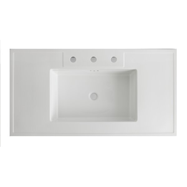 Kathryn® Ceramic 42 Console Bathroom Sink with Overflow by Kohler