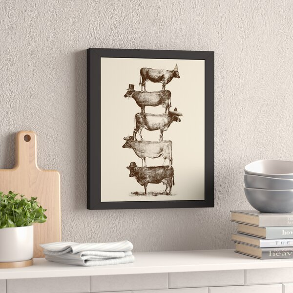 Cow Cow Nuts 2 Framed Graphic Art by Laurel Foundry Modern Farmhouse