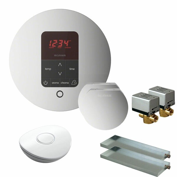Butler Round Steam Thermostat, Timer, and Steamhead by Mr. Steam