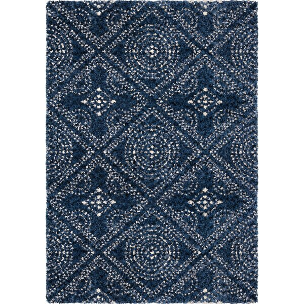 Aviles Navy Area Rug by Bungalow Rose