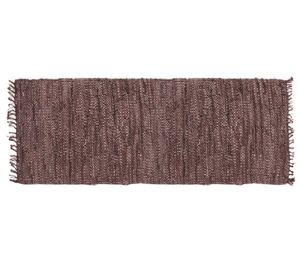 Recio Hand-Woven Brown Area Rug by Loon Peak