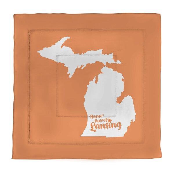 Lansing Michigan Single Reversible Comforter