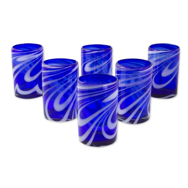 Mexican Hand Blown Water Glass Set (Set of 6) by Novica