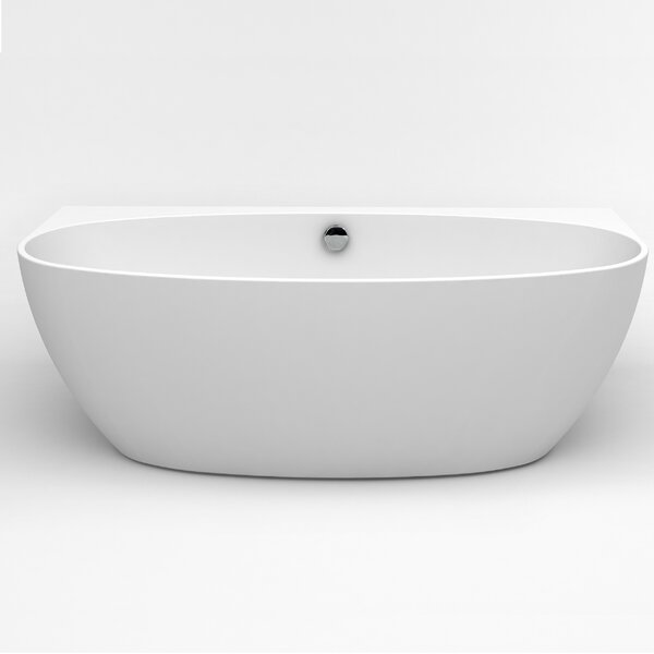 Jasmine 60 x 30.7 Freestanding Soaking Bathtub by Eviva