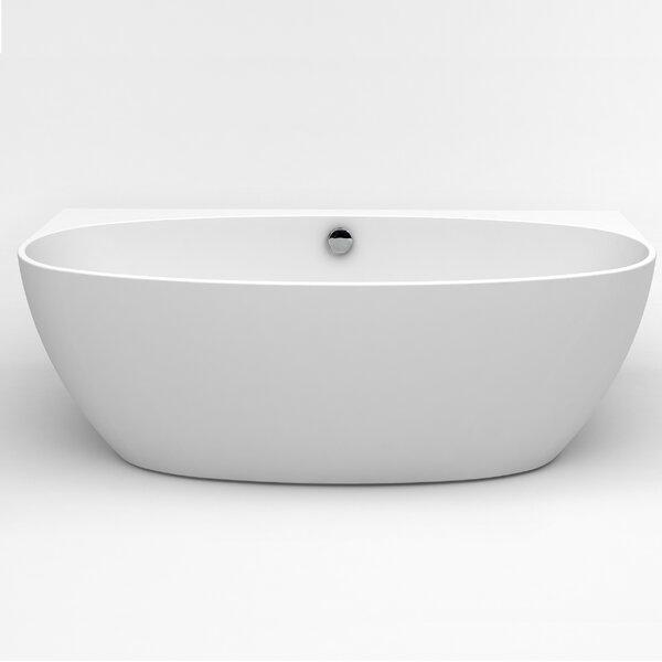Jasmine 60 x 30.7 Freestanding Soaking Bathtub by Eviva