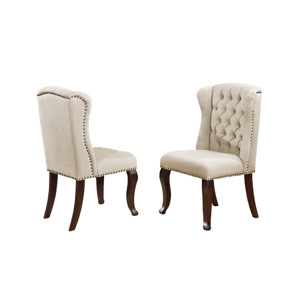 Essays Side Upholstered Dining Chair (Set of 2) by Winston Porter Winston Porter