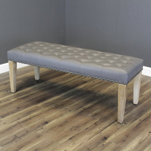 Whipton Faux Leather Bench by Gracie Oaks