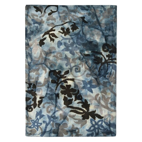 Wool Floral Hand-Tufted Blue/Brown Area Rug by Eastern Weavers
