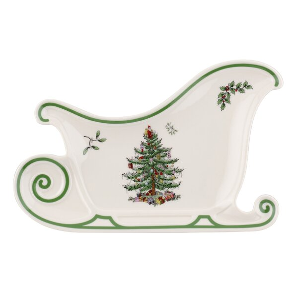 Christmas Tree Sleigh Platter by Spode