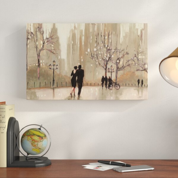 An Evening Out Neutral Framed On Canvas By Charlton Home.