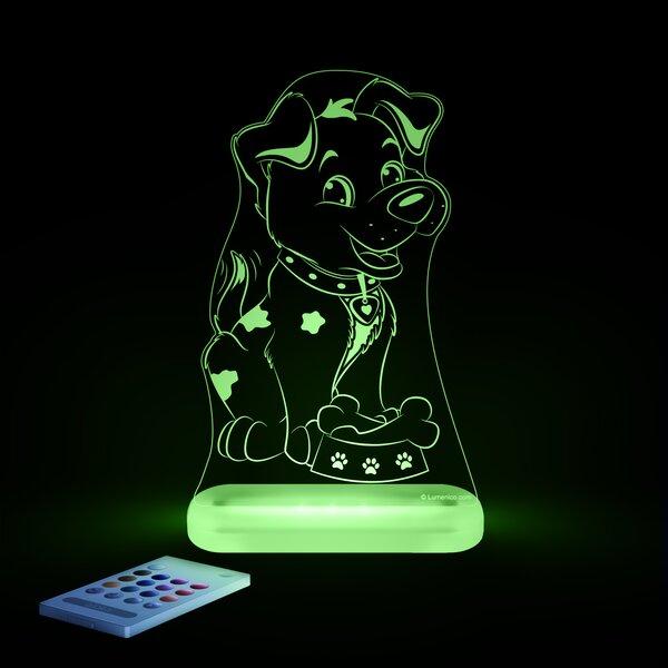 Aloka Starlight Puppy LED 3-Light Night Light with Remote Control by Lumenico