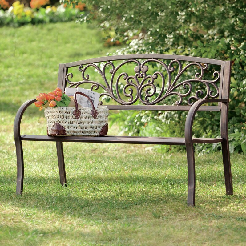 Awesome Garden Bench Part - 1: Blooming Iron Garden Bench