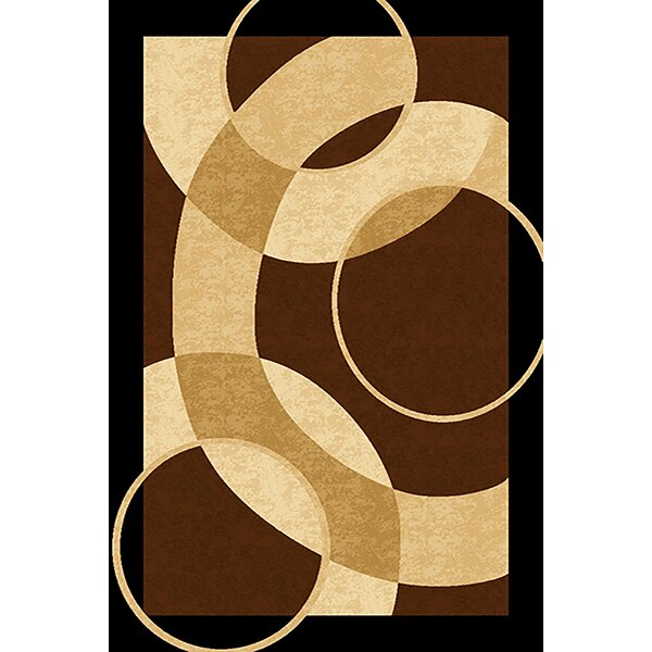 Mccampbell Brown/Cream Area Rug by Ivy Bronx