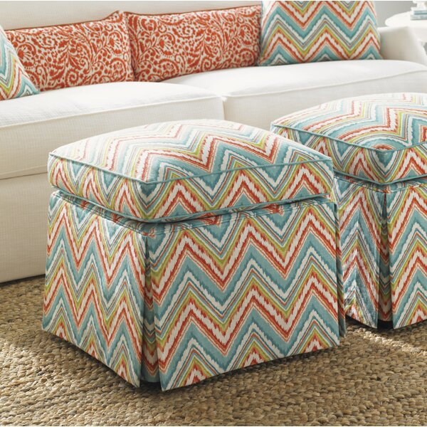 Ivory Key Cube Ottoman by Tommy Bahama Home