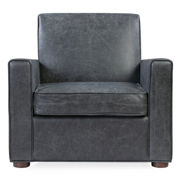 Keomi Leather Armchair By Millwood Pines