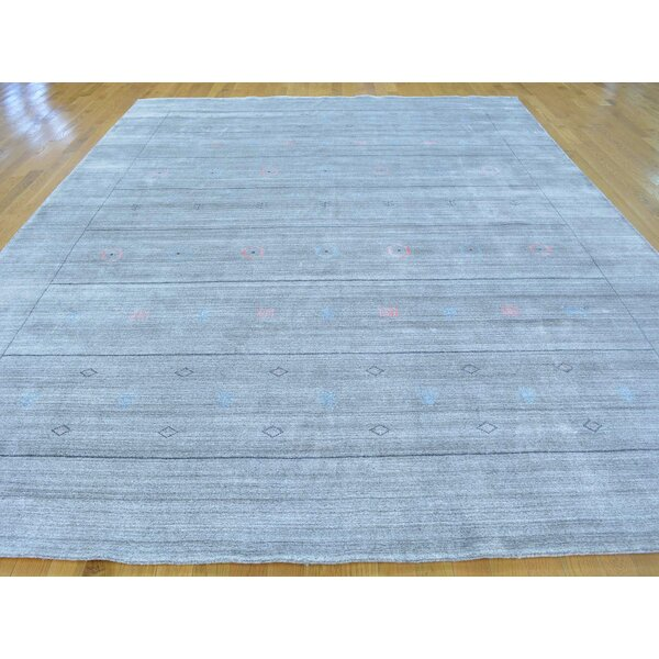 One-of-a-Kind Becker Silver Handwoven Grey Wool/Silk Area Rug by Isabelline