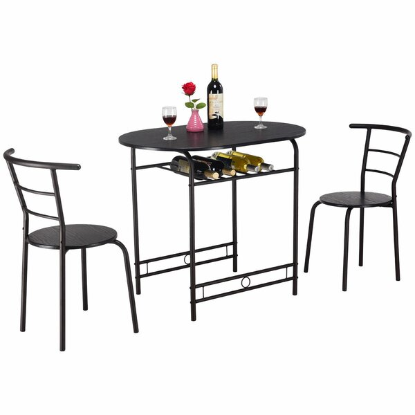 Hassinger 3 Piece Dining Set by Symple Stuff