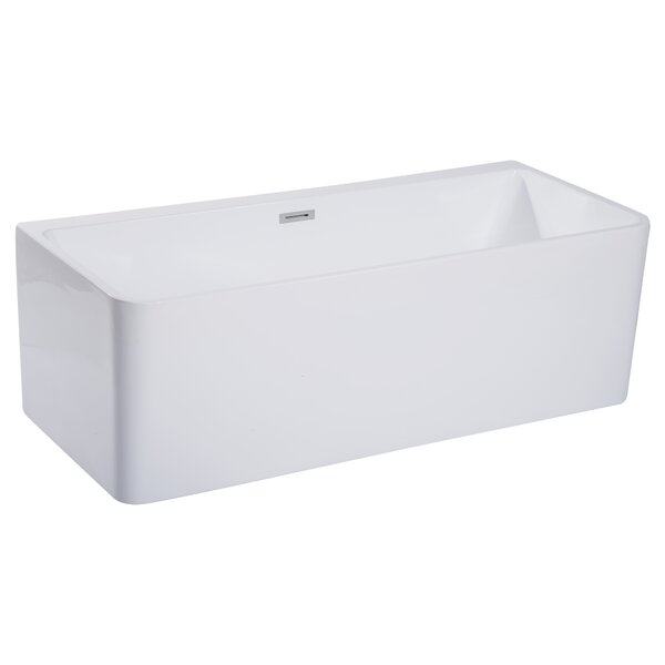 Rectangular Acrylic 67 x 29.4 Freestanding Soaking Bathtub by Alfi Brand