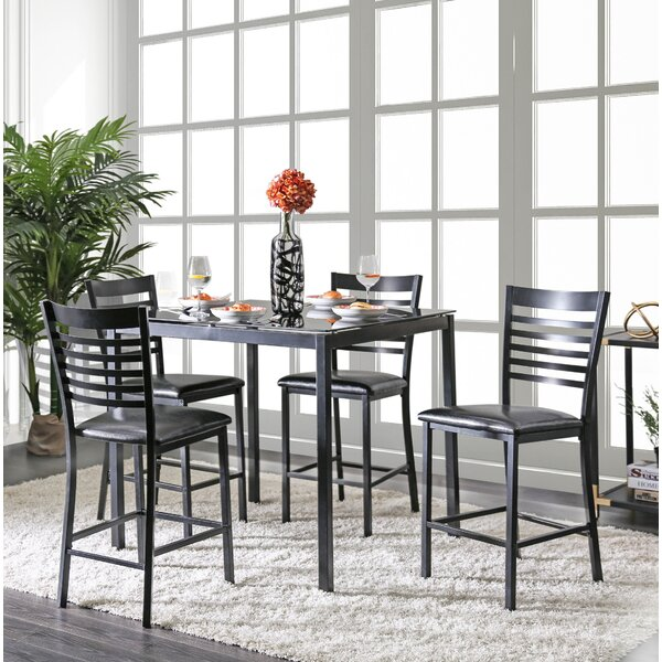 Bhamidipati Pub 5 Piece Dining Set by Ebern Designs