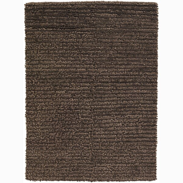 University Place Wool Brown Area Rug by George Oliver