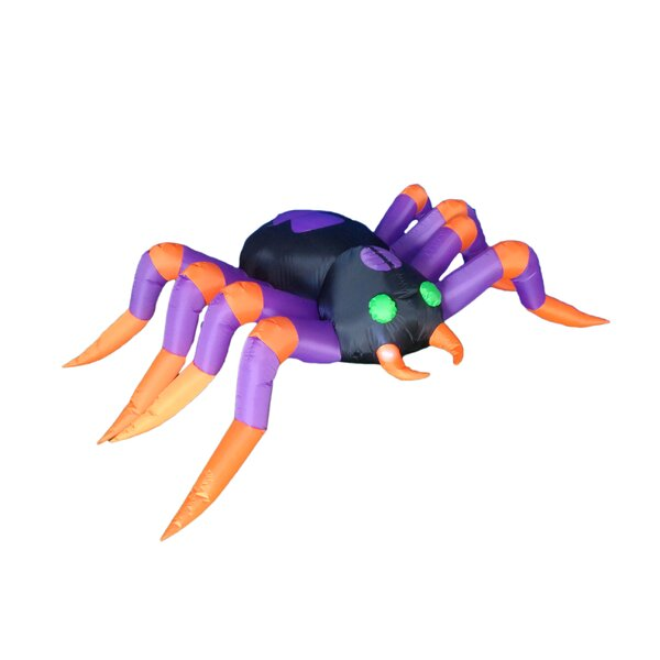 8 Foot Long Halloween Inflatable Spider Decoration by BZB Goods