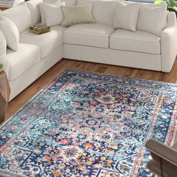 Burciaga Blue Area Rug by Mercury Row