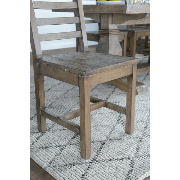 Gertrude Solid Wood Ladder Back Side Chair In Desert Gray (Set Of 2) By Lark Manor