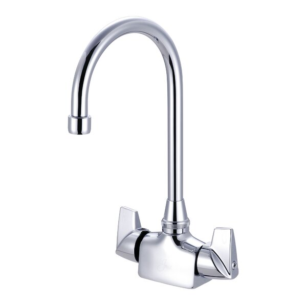 Double Handle Kitchen Faucet by Just Manufacturing