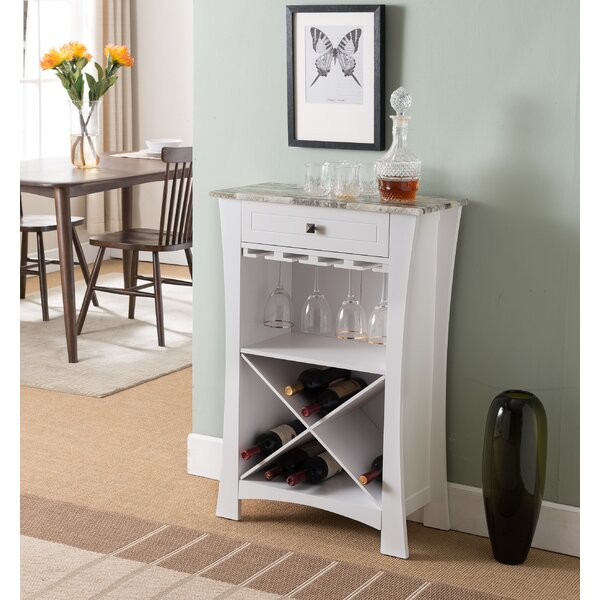 Kincer Bar with Wine Storage by Alcott Hill Alcott Hill