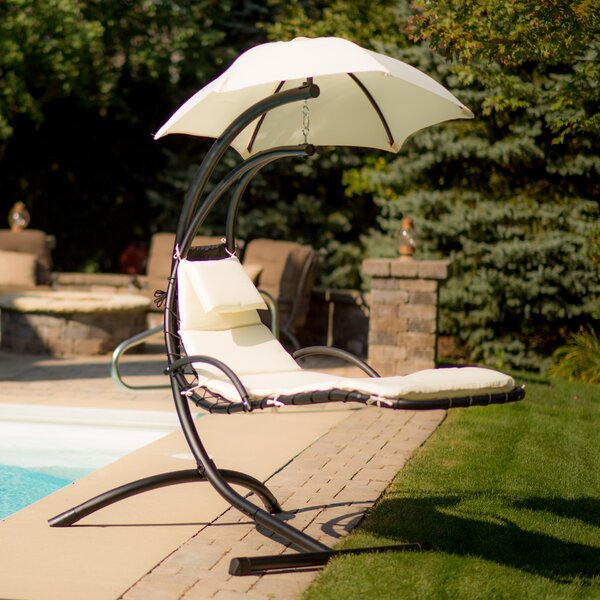 Cano Polyester Hanging Chaise Lounger with Stand by Red Barrel Studio