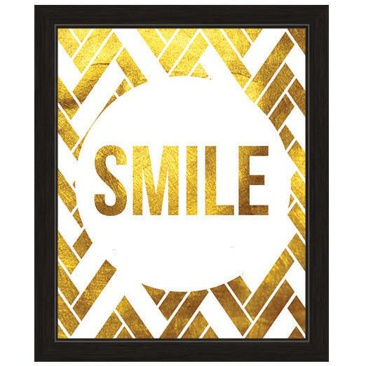 Smile Framed Textual Art by Click Wall Art