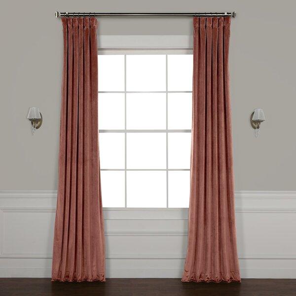 Riverton Solid Room Darkening Rod Pocket Single Curtain Panel by Red Barrel Studio