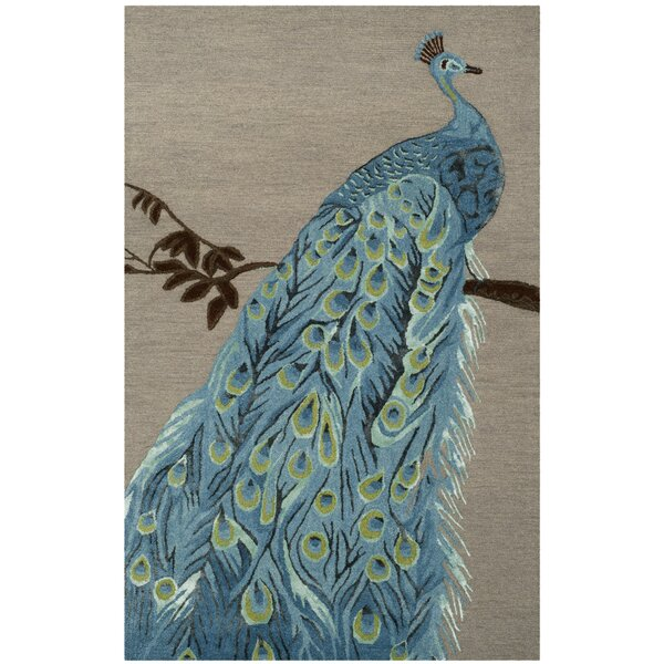 Netea Hand-Tufted Blue/Beige Area Rug by World Menagerie