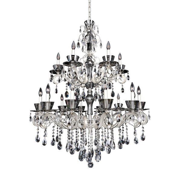 Locatelli 18-Light Candle Style Tiered Chandelier by Allegri by Kalco Lighting Allegri by Kalco Lighting