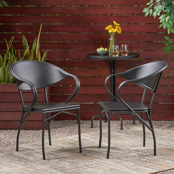 Darcy Patio Dining Chair (Set of 2) by Ebern Designs Ebern Designs