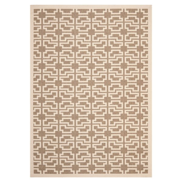 Short Mocha/Beige Outdoor Area Rug by Winston Porter