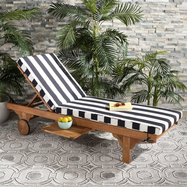 Alvah Reclining Chaise Lounge With Cushion By Sol 72 Outdoor