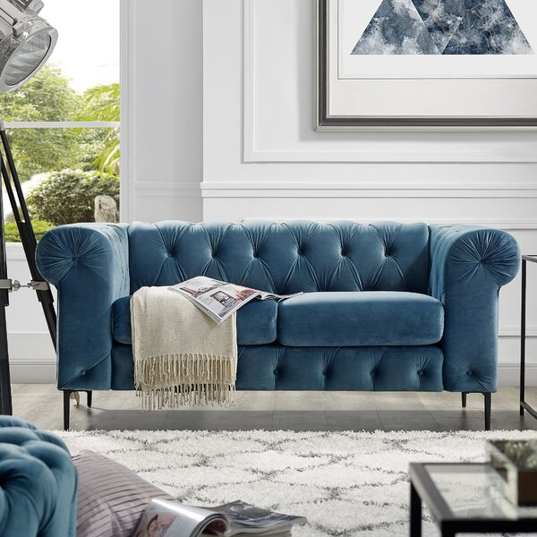 Offers Saving Kohl Chesterfield Loveseat by House of Hampton by House of Hampton