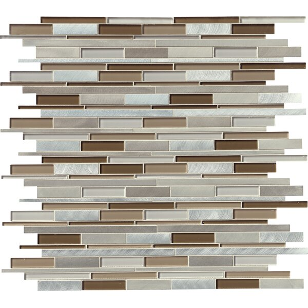 Madison Avenue Random Sized Glass/Metal Mosaic Tile in Beige by MSI