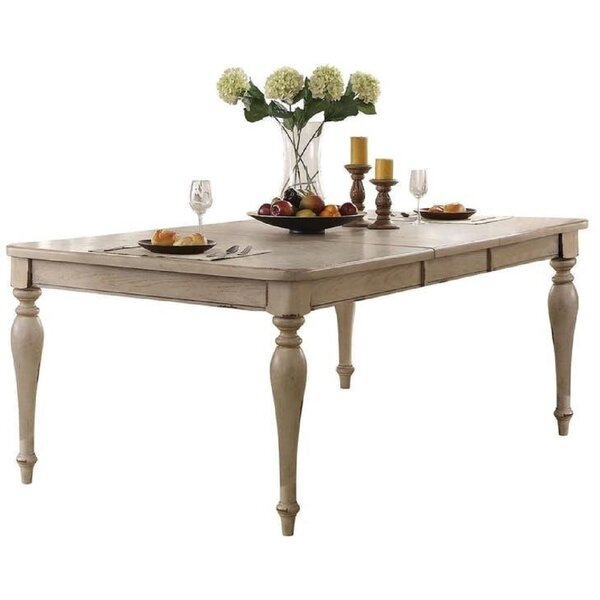 Ryleigh Wooden Top Extendable Dining Table by Ophelia & Co.