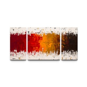 Luminescence Triptych by Carmen Guedez 3 Piece Painting Print on Canvas Set by Artefx Decor
