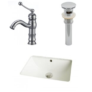 Purchase Ceramic Rectangular Undermount Bathroom Sink with Faucet and Overflow By American Imaginations