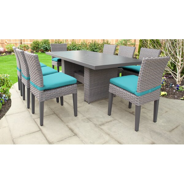 Monterey 9 Piece Outdoor Patio Dining Set with Cushions by TK Classics