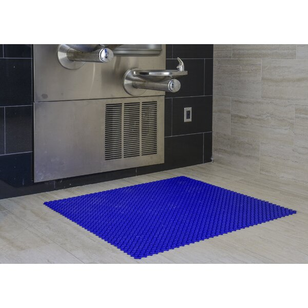 Aqua Safe 8 x 8 Vinyl Mosaic Tile in Ocean Blue by Mats Inc.