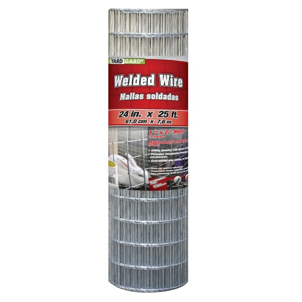2 ft. H x 21 ft. W Galvanized Welded Fencing by YARDGARD