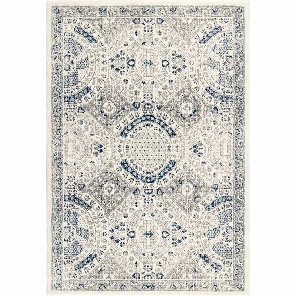 Jamila Gray Area Rug by Bungalow Rose