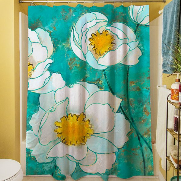 Flower Field Shower Curtain by Manual Woodworkers & Weavers